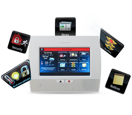 Apex features Honeywell's LYNX Touch 5200 all-in-one home and business control system